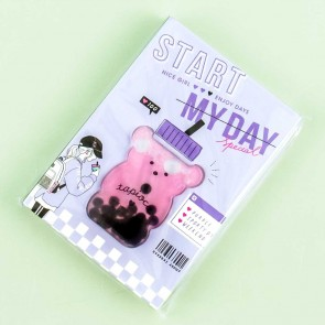 Start My Day Bear Milk Tea Softbound Notebook