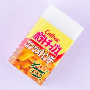Calbee Potato Chips Consomme Punch Eraser
