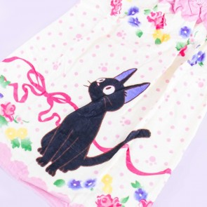 Kiki's Delivery Service Jiji Floral Wrap Towel With Buttons