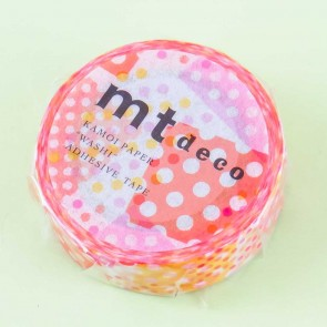 MT Pink & Yellow Polka Dot Washi Tape