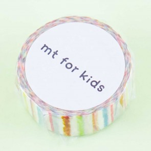 MT For Kids Crayon Stripes Washi Tape