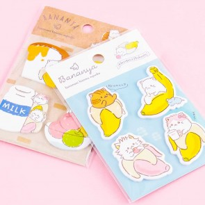 Bananya Snack Time Mini Sticky Notes Set