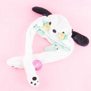 Pochacco Fluffy Hat With Movable Cheering Hands