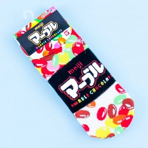 Marble Chocolate Cotton Socks