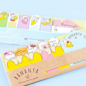 Bananya Snack Time Sticky Marker Set