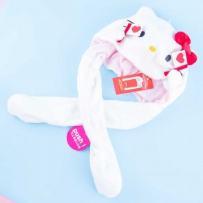 Hello Kitty Fluffy Hat With Movable Cheering Hands