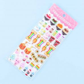 Hara Peco Rainbow Snack Time Puffy Stickers