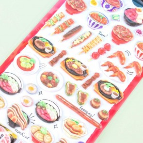 Hara Peco Meaty Meal Puffy Stickers