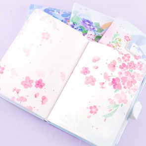 Flowery Cat Hardcover Notebook