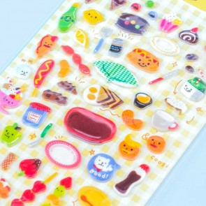 Brunch Picnic Puffy Stickers