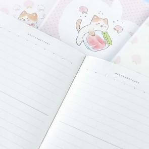 Peach Cat Notebook