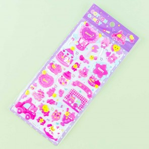 Cotton Candy Carnival Fair Bears Puffy Stickers