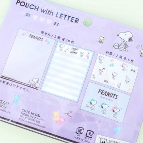 Snoopy Music Pouch With Letter Set