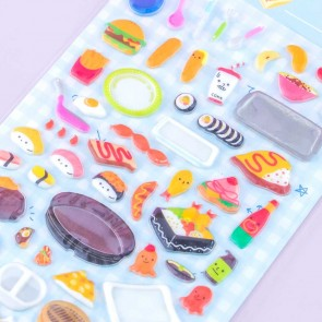 Japanese Lunch Puffy Stickers