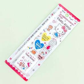 Hello Kitty White Silicone Straw With Case