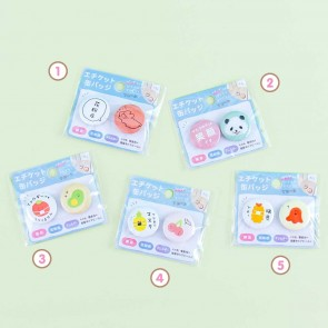 Funny Food Character Badge Set