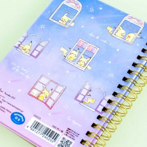Pikachu Midnight Sky Windows Spiral Notebook