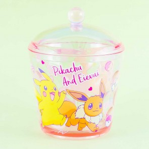 Pokemon Pikachu & Eevee Round Storage Case