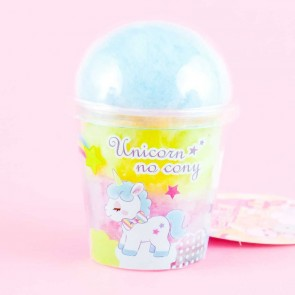 Unicorn No Cony Cotton Candy Cup Charm