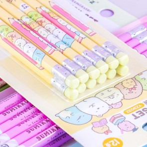 Sumikko Gurashi 2B Pencil With Eraser Set