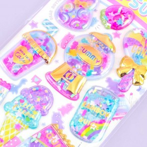 Yummy Capsule Dessert Time Puffy Stickers