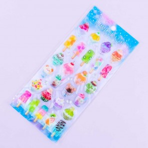Summer Drop Popsicle Stickers