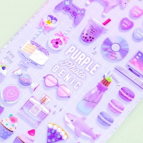 Choo My Color Purple Photogenic Stickers