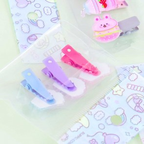 Decora Kei Snack Hair Clips Set - 3 pcs