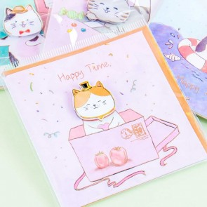 Happy Time Cat Greeting Card