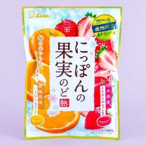 Lion Nippon Fruits Orange & Strawberry Candy