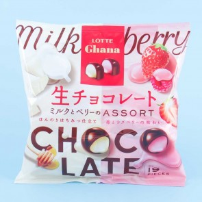 Lotte Ghana Raw Chocolates - Assorted Berry & Milk