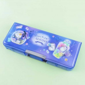 Assorted Glitters Love Double Sided Pencil Case
