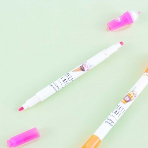Melty Cafe Frappe Dual Highlighter Pen