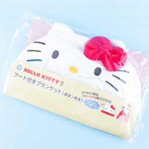 Hello Kitty Fluffy Hooded Blanket