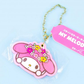 My Melody Floral Crown Slide Mirror Charm