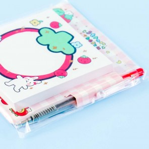 Sweet Strawberry Notepad With Pen