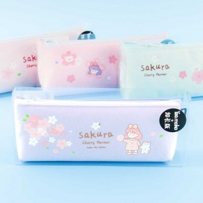 Sakura Girl & Neko Pen Case