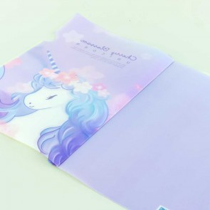 Sakura Unicorn Plastic Folder