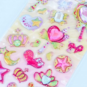 Hearts & Ribbons Magic Wand Stickers