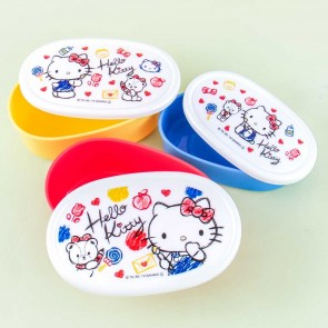 Hello Kitty & Tiny Chum Doodle Time Oblong Bento Set - 3 pcs