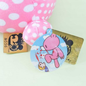 Gloomy Bear Plushie - Pink With White Crazy Dots / Big