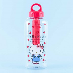 Hello Kitty Red Hearts Water Bottle With Cold Insulation Stick