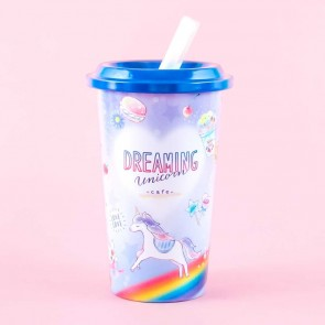 Dreaming Unicorn Cafe Cup Piggy Bank