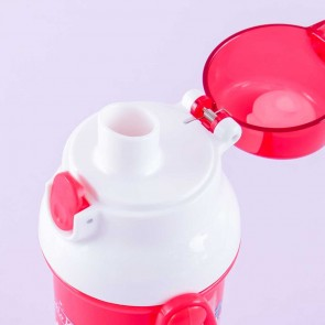 Hello Kitty Lace & Argyle One-Push Water Bottle