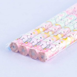 Bonbonribbon Buttons Hexagon B Pencil Set - 4 pcs