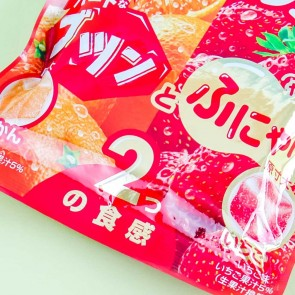 Lotte Fit's BIG Mikan & Strawberry Gummies