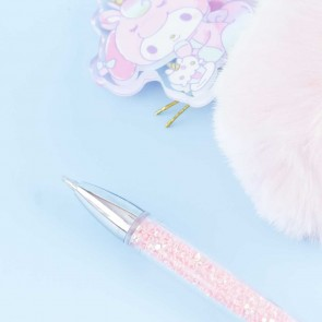 My Melody Glittery Unicorn Furball Pen