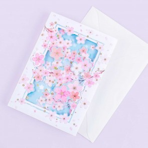 Sakura 3D Greeting Card - Cherry Blossoms
