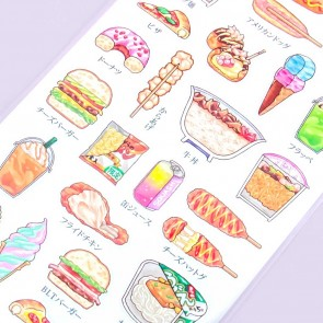 Tasty Food Cross Section Stickers