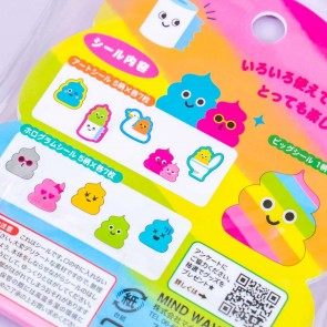 Colorful Poop Character Stickers